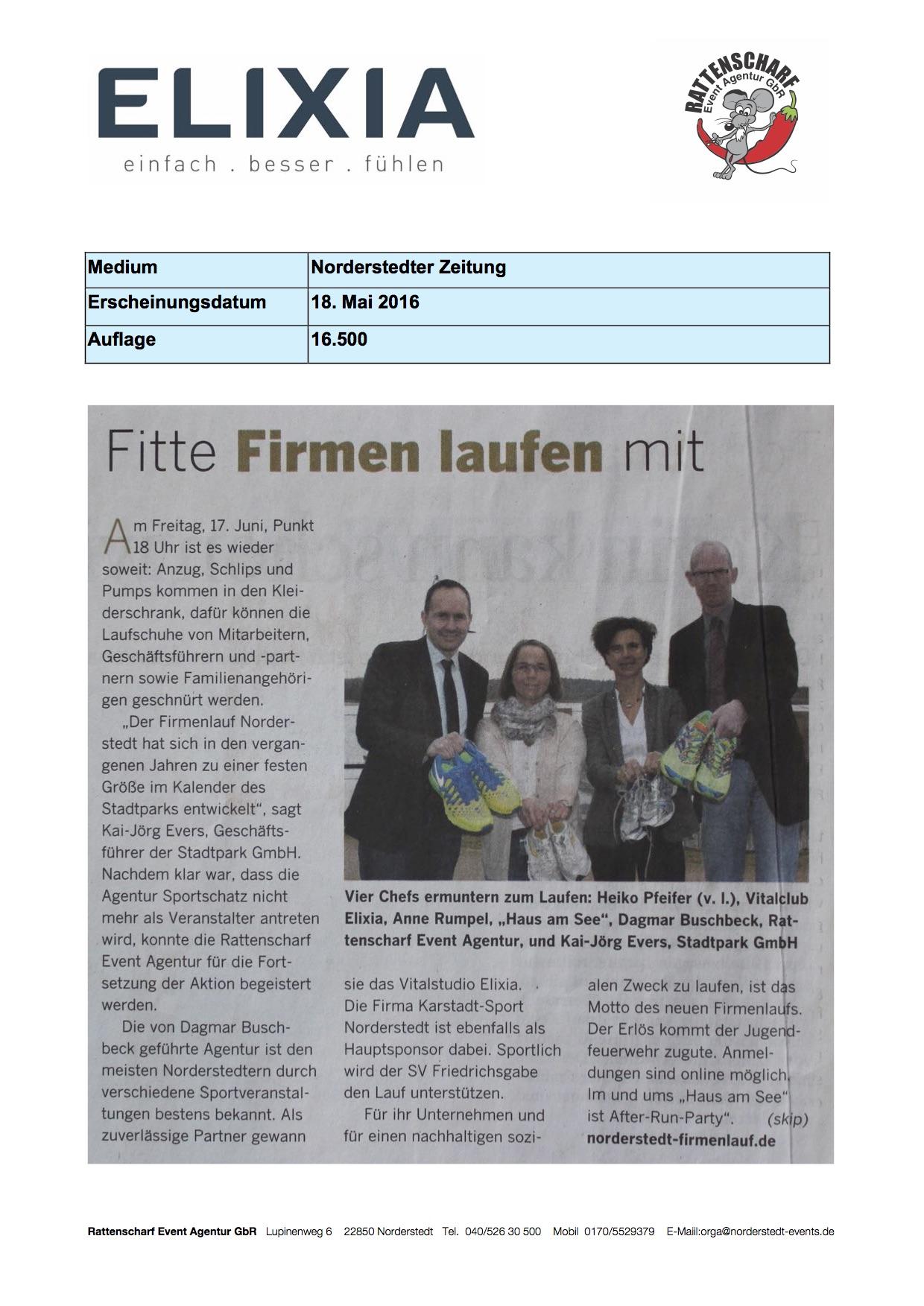 Norderstedter Zeitung 18. Mai 2016