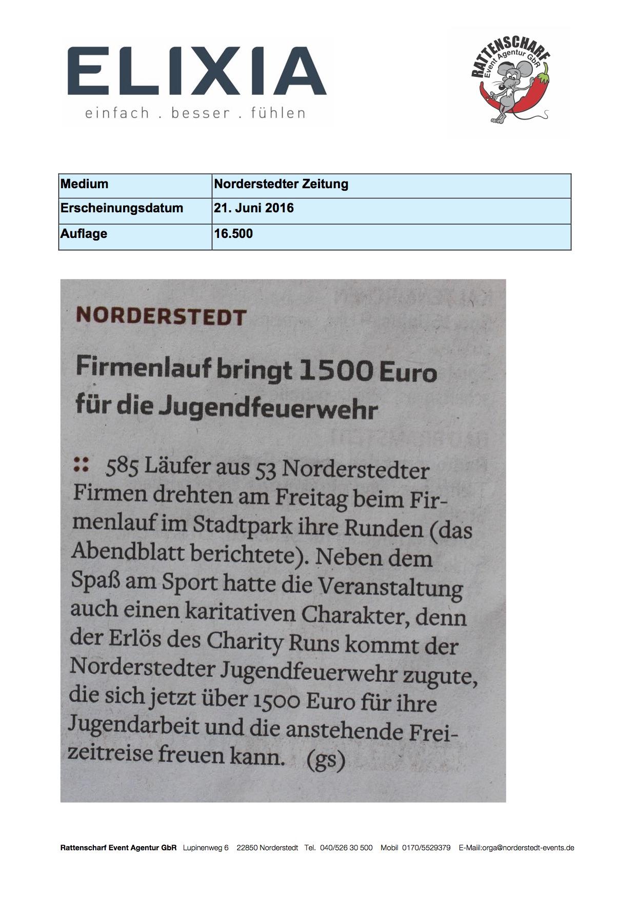Norderstedter Zeitung 21. Juni 2016