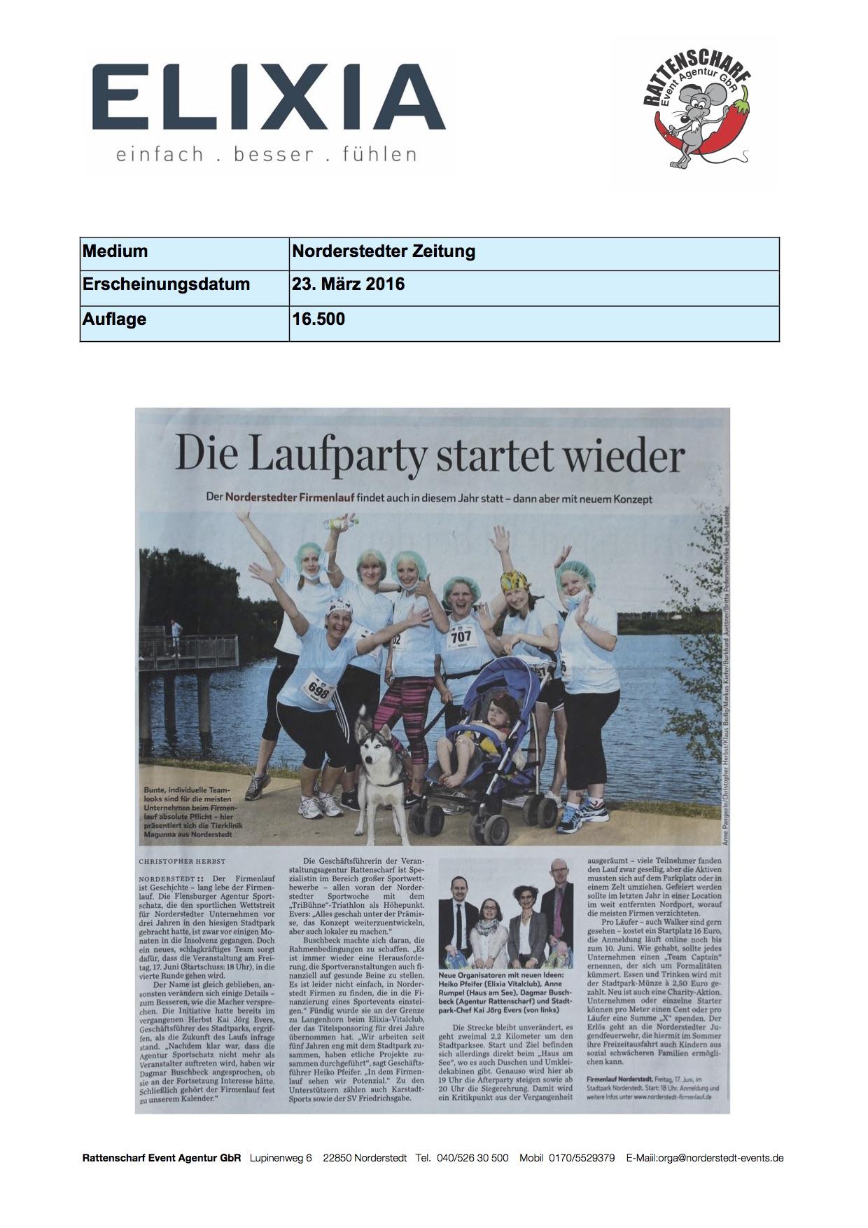 Norderstedter Zeitung 23. März 2016